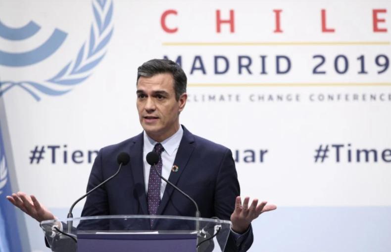 Sánchez pide junto a otros diez líderes europeos que la UE se comprometa a reducir un 55% sus emisiones para 2030